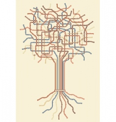 subway tree vector image vector image