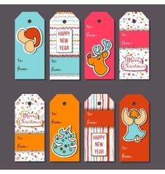 Christmas tags Cozy Christmas label set vector image vector image