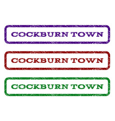 cockburn town watermark stamp vector image vector image