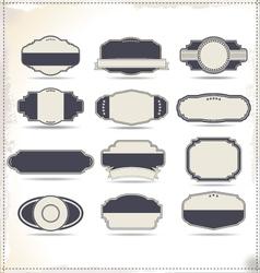 Empty vintage labels vector image