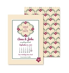 floral vintage invitations with text Gentle vector image