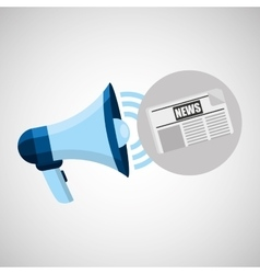 megaphone concept news paper design vector image