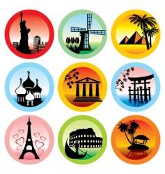 travel landmarks vector image