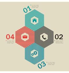 Trendy design template for website vector image vector image