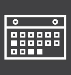 calendar line icon mobile and website button vector image vector image