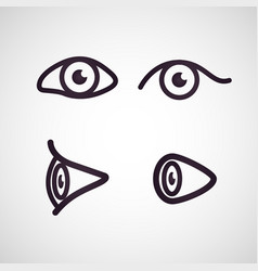 eyes and eye icon set collection vector image