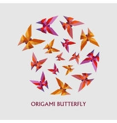 flat design with origami butterfly vector image vector image