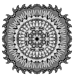 Mandala for coloring book vector image vector image
