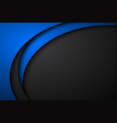 abstract black and blue wave background vector image