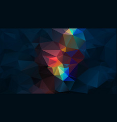 Abstract irregular polygon background dark blue vector