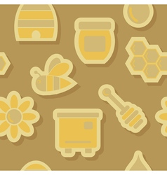 abstract seamless background with bees and honey vector image