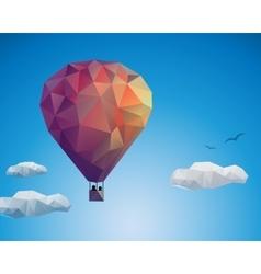 Air balloon couple vector image vector image