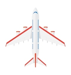 Aircraft view from above vector image