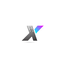 alphabet letter logo x design icon for business vector image