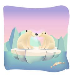 Animal love cartoon background vector