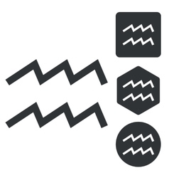 Aquarius icon set monochrome vector