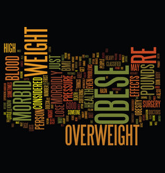 Are you morbid obese text background word cloud vector