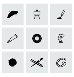 Art icon set vector image