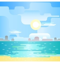 Beautiful beach landscape vector