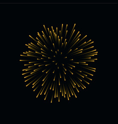 Beautiful bright firework isolated on black vector