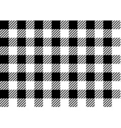 Black and white gingham tablecloth seamless patter vector