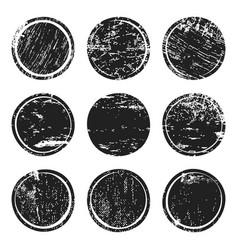 black grunge texture circles vector image