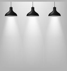 black lamp with grey wal vector image