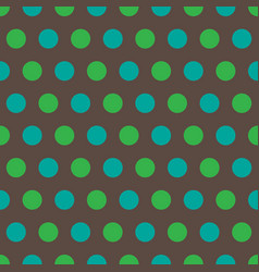 blue and green polka dots on gray background vector image