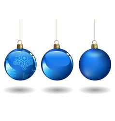 blue christmas ball set vector image