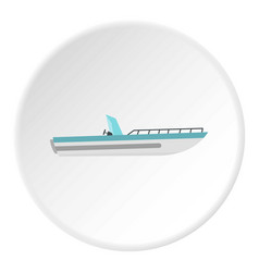 Boat icon circle vector