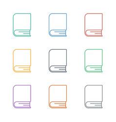 Book icon white background vector