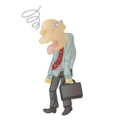 Boss tired cartoon vector