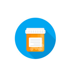 Bottle with pills medicine icon vector