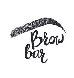 Brow bar text and eyebrow vector