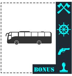 bus icon flat vector image