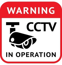 cctv warning symbol vector image