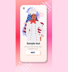 Chef in uniform with usa flag happy labor day vector