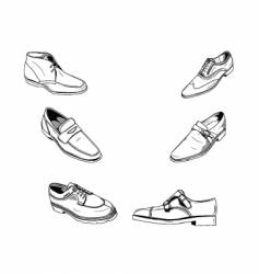 classic shoes vector image vector image