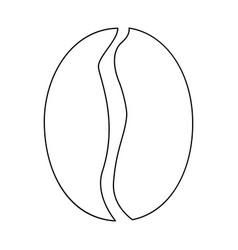 coffee bean the black color icon vector image