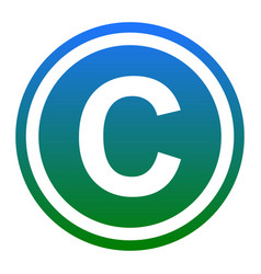 Copyright sign white icon in vector