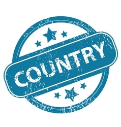 COUNTRY round stamp vector