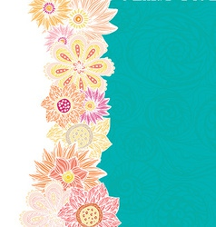 cute card template with beautiful flowers and vector image