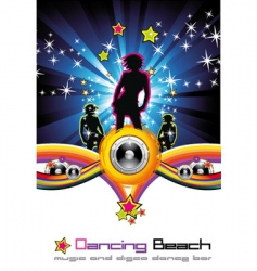 dancing night background vector image