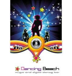 Dancing night background vector