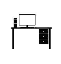 Desktop computer system vector