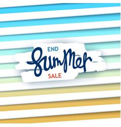 End summer sale creative poster vector