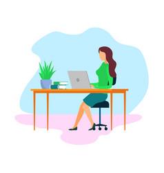 Female boss employer cartoon character vector