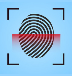 Finger print icon scanning vector