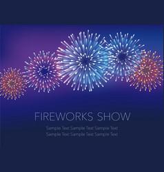 fireworks 1 vector image
