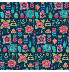 Floral pattern design background with vector